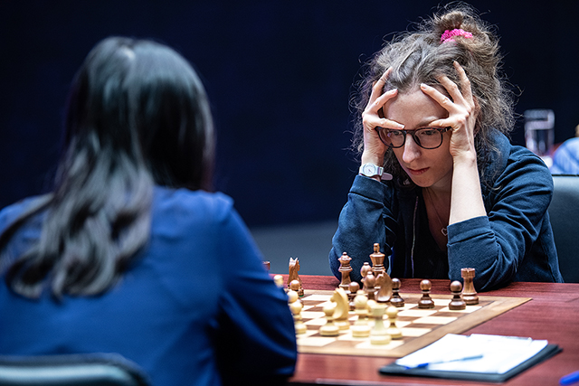 m 20190914 Skolkovo Women Grand Prix R04-280 Marie Sebag FRANCE Ju Wenjun
